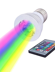 cheap -1pc 3 W LED Spotlight 250 lm E14 GU10 GU5.3 1 LED Beads High Power LED Dimmable Remote-Controlled Decorative RGB 85-265 V / RoHS