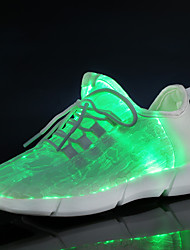 cheap -Boys' / Girls' LED Shoes / USB Charging / Luminous Fiber Optic Shoes Mesh / Elastic Fabric Sneakers Toddler(9m-4ys) / Little Kids(4-7ys) / Big Kids(7years +) Lace-up / Hook & Loop / LED White Spring
