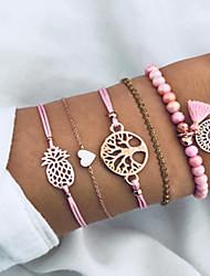 cheap -5pcs Women's Bead Bracelet Vintage Bracelet Earrings / Bracelet Classic Casual / Sporty Fashion Cute Elegant Hemp Rope Bracelet Jewelry Gold For Daily School Street Going out Festival