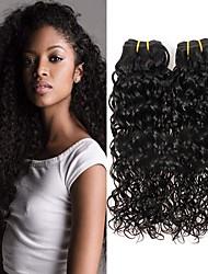 cheap -6 Bundles Brazilian Hair Water Wave Virgin Human Hair Natural Color Hair Weaves / Hair Bulk Bundle Hair One Pack Solution 8-28inch Natural Color Human Hair Weaves Cute Fashionable Design Gift Human