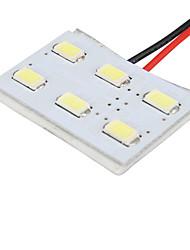 Недорогие -1pcs Автомобиль Лампы 1.6 W SMD 5630 6 Светодиодная лампа Подсветка для номерного знака / Внутреннее освещение Назначение Универсальный Все года