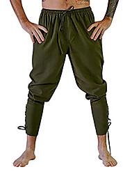 cheap -Knight Ritter Renaissance Ancient Rome Pants Masquerade Men's Costume Black / Brown / White Vintage Cosplay Halloween Masquerade
