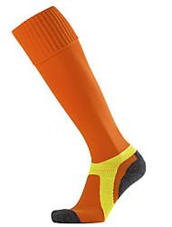Недорогие -Муж. Жен. Футбольные носки Спортивные носки Носки для велоспорта компрессия Носки Длинные носки Дышащий Противозаносный Мягкий Впитывает пот и влагу Поддерживает Черный Черный / желтый Белый / Зима