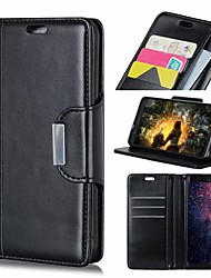 cheap -Case For Nokia Nokia 9 / Nokia 8 / Nokia 8 Sirocco Wallet / Card Holder / Shockproof Full Body Cases Solid Colored Hard PU Leather / Nokia 6