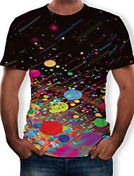 Недорогие -Муж. Галактика 3D С принтом Футболка Черный