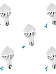 cheap -5pcs 5 W LED Smart Bulbs 300-450 lm E26 / E27 10 LED Beads SMD 5730 Sensor Smart Infrared Sensor White 85-265 V / RoHS