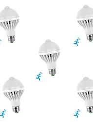 Недорогие -5 шт. 5 W Умная LED лампа 300-450 lm E26 / E27 10 Светодиодные бусины SMD 5730 Датчик Smart Инфракрасный датчик Белый 85-265 V / RoHs