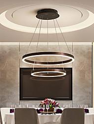 cheap -1-Light 60 cm Adjustable / Dimmable Chandelier Aluminum Acrylic Circle Anodized LED / Modern 220-240V / 100-120V