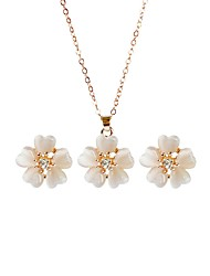 cheap -Women's Bridal Jewelry Sets Flower Fashion Cute Earrings Jewelry Gold For Party Birthday 1 set