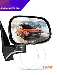 cheap -10cm Car Rear View Mirror Protective Film Anti Glare Waterproof Film Anti Fog Rain-Proof Film 2pcs