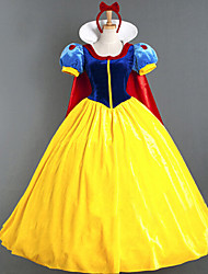 cheap -Princess Masquerade Women's Movie Cosplay Princess Vacation Dress Yellow Dress Cloak Halloween Carnival Masquerade Cotton Polyster