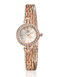 cheap -Women's Quartz Watches Gold Watch Heart shape Fashion Rose Gold Stainless Steel Quartz Rose Gold Casual Watch 1 pc Analog One Year Battery Life