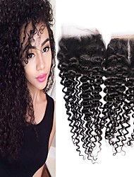 cheap -1 Bundle Brazilian Hair Kinky Curly Remy Human Hair Wig Accessories Hair Weft with Closure 8-20 inch Natural Color Human Hair Weaves Woven New Arrival 100% Virgin Human Hair Extensions