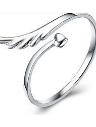 cheap -Men Ring Classic Silver S925 Sterling Silver Wings Fashion 1pc Adjustable / Women's