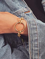cheap -Women's Bracelet Thick Chain Precious Interlocking Stylish Classic Aluminum Bracelet Jewelry Gold / Silver For Wedding Gift Daily Date Festival