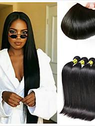cheap -4 Bundles Brazilian Hair Straight Remy Human Hair Natural Color Hair Weaves / Hair Bulk Extension Bundle Hair 8-28inch Natural Color Human Hair Weaves Fashionable Design Silky Fashion Human Hair