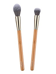 cheap -Professional Makeup Brushes 2pcs Eco-friendly Professional Soft Full Coverage Synthetic Bamboo for Makeup Brush