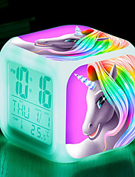 cheap -Digital Alarm clock 1 Plastics AAA Batteries Powered Lighting Wake Up Clock / Multi-function / Calendar / date / day