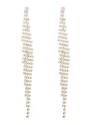 cheap -Women's Cubic Zirconia Drop Earrings Chandelier Luxury Classic Vintage European Imitation Diamond Earrings Jewelry Gold / Silver For Party Ceremony Festival 1 Pair