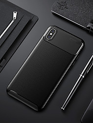 cheap -Case For Apple iPhone XS / iPhone XR / iPhone XS Max Shockproof / Ultra-thin Back Cover Solid Colored Soft TPU / Carbon Fiber