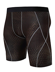 cheap -Men's Compression Shorts Compression Base layer Underwear Shorts Bottoms Plus Size Lightweight Breathable Quick Dry Soft Sweat-wicking Golden+Black Royal Blue Blue / Black Lycra Winter Road Bike