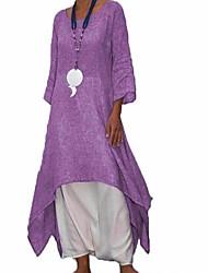 cheap -Women's Loose Swing Shirt Dress Dark Gray Gray Purple XXXL XXXXL XXXXXL