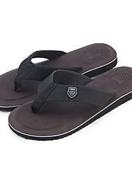 cheap -Men's Comfort Shoes Canvas Summer Slippers & Flip-Flops Black / Green / Camel