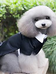 cheap -Dogs Tuxedo Dog Clothes Black Costume Acrylic Fibers Simple Vintage British S M L XL