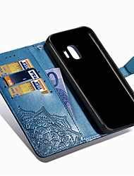 cheap -Case For Samsung Galaxy J8 (2018) / J7 Duo / J7 (2018) Wallet / Card Holder / with Stand Full Body Cases Mandala Hard PU Leather