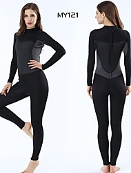 cheap -Women's Full Wetsuit 3mm SCR Neoprene Diving Suit Windproof Anatomic Design High Elasticity Long Sleeve Back Zip Solid Colored Camo / Camouflage Autumn / Fall Spring Summer / Stretchy