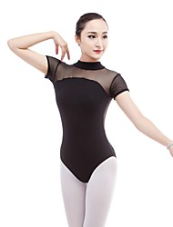 cheap -Ballet Leotards Women's Training / Performance Cotton / Elastane / Vicose Lace / Hook & Loop Short Sleeve Leotard / Onesie