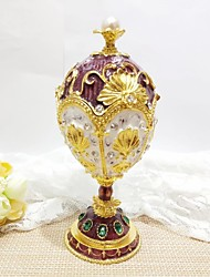 cheap -Jewelry Box Trinket Box Antique Jeweled Russian Zinc Alloy For Easter Egg Cosplay Easter Women's Costume Jewelry Fashion Jewelry