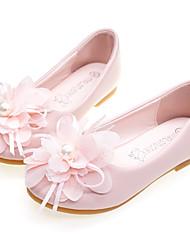 abordables -Fille Confort / Chaussures de Demoiselle d'Honneur Fille Microfibre Ballerines Enfant en bas âge (9m-4ys) / Petits enfants (4-7 ans) Fleur Rose / Ivoire Printemps / Automne / Mariage / Mariage