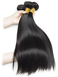 cheap -4 Bundles Brazilian Hair Straight Remy Human Hair Natural Color Hair Weaves / Hair Bulk Extension Bundle Hair 8-28inch Natural Color Human Hair Weaves Life Cosplay Creative Human Hair Extensions