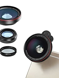 cheap -Mobile Phone Lens Lens with Filter / Fish-Eye Lens / Wide-Angle Lens Glasses / Plastic & Metal / Aluminium Alloy 2X 4 mm 3 m 180 ° Lens with Stand / Creative / New Design