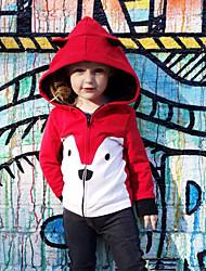 Недорогие -малыш Девочки Активный / Классический С принтом С принтом Обычная Хлопок Куртка / пальто Розовый / Дети (1-4 лет)