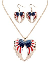 cheap -Women's Drop Earrings Necklace Angel Wings Korean Earrings Jewelry Gold / Silver For Daily 1 set