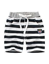 cheap -Kids Boys' Basic Striped Lace up Cotton Shorts Black