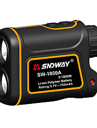 cheap -SNDWAY SW-600A/1000A/1500A Telescope Laser Rangefinder 600m/1000m/1500m with Speed Difference Measuring Function With Height Difference Measuring Function Waterproof Dustproof Optical 7 Times