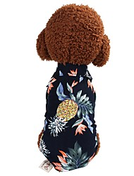 cheap -Dog T-shirts Geometric Patterned Character Casual / Daily Simple Style Dog Clothes Bronze White Costume Cotton XS S M L XL XXL