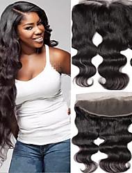 Недорогие -1 комплект Бразильские волосы Естественные кудри Не подвергавшиеся окрашиванию 80 g Wig Accessories Волосы Уток с закрытием 8-20 дюймовый Естественный цвет Ткет человеческих волос Кружева Sexy Lady