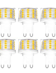 cheap -YWXLIGHT® 6pcs 5 W LED Bi-pin Lights 500 lm G9 T 52 LED Beads SMD 2835 Dimmable Warm White Cold White Natural White 200-240 V