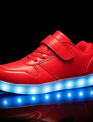 cheap -Boys USB Charging  LED / LED Shoes PU Sneakers Little Kids(4-7ys) / Big Kids(7years +) Black / White / Red Fall / Rubber