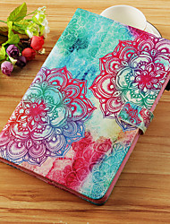 cheap -Case For Samsung Galaxy Tab S4 10.5 (2018) / Tab A2 10.5(2018) T595 T590 / Tab S2 9.7 Wallet / Card Holder / with Stand Full Body Cases Flower Hard PU Leather