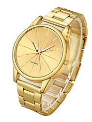 cheap -Couple's Dress Watch Wrist Watch Gold Watch Quartz Silver / Gold Stopwatch Casual Watch Analog Fashion - Gold Silver
