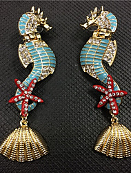 cheap -Women's Drop Earrings Statement Earrings Jewelry Blue For Party Anniversary Prom Going out 1 Pair