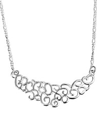 cheap -Women's Chain Necklace Statement Necklace Necklace Classic Classic Trendy Romantic Fashion Silver Plated Silver 46 cm Necklace Jewelry 1pc For Gift Daily Evening Party Date Office & Career