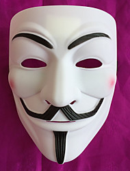 cheap -Mask Halloween Mask Inspired by V for Vendetta Golden White Halloween Halloween Masquerade Adults' Men's