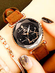 cheap -Women's Wrist Watch Quartz Leather Black / Red / Brown Water Resistant / Waterproof Casual Watch Analog Casual Fashion - Brown Red Pink