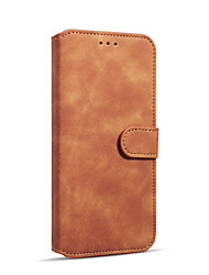 cheap -Case For Apple iPhone XS Max Wallet / Card Holder / Shockproof Full Body Cases Solid Colored Hard PU Leather / TPU
